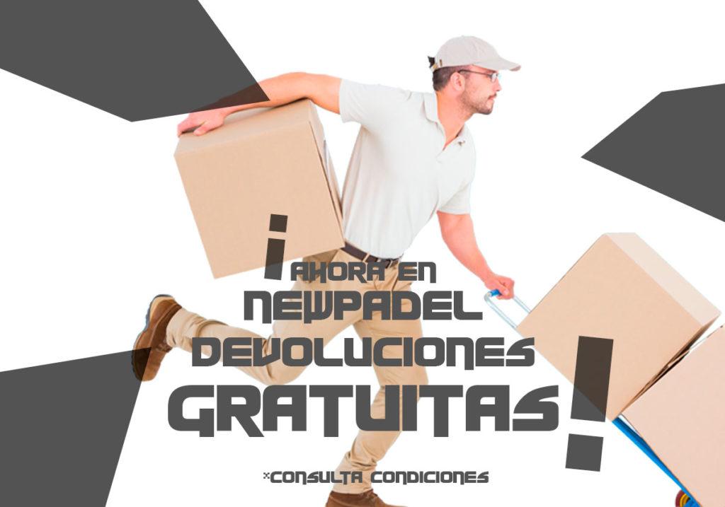 Devoluciones gratis en NewPadel
