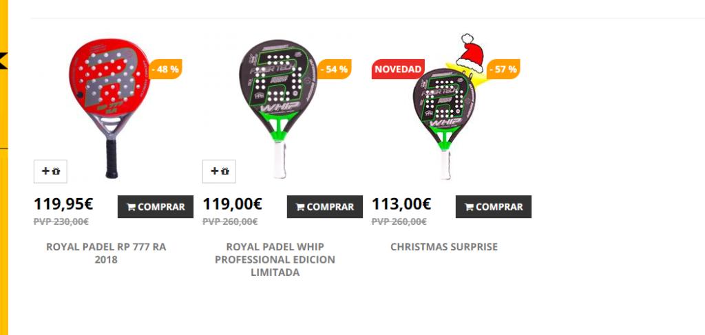 Navidad 2019 en la web New Padel