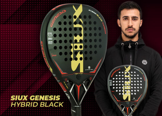 ¡Novedad! Siux Genesis Hybrid Black, la pala de Ávaro Cepero