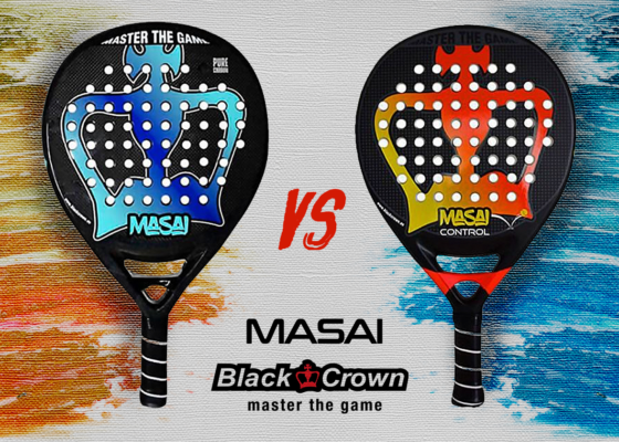 Comparamos las palas Black Crown Masai y Masai Control