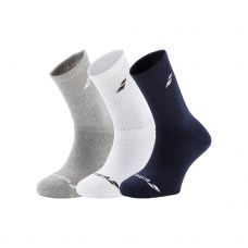 CALCETINES BABOLAT 3 PAIRS PACK GRIS CHINÉ