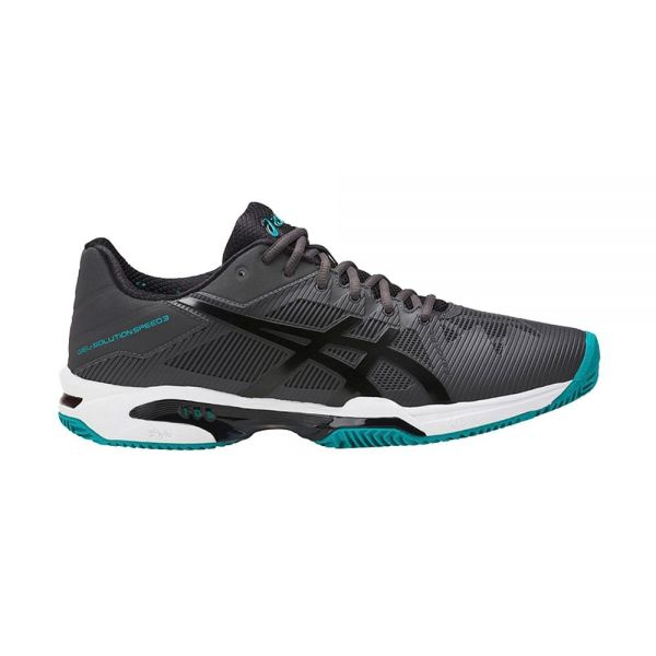 70734180160 ASICS GEL SOLUTION SPEED 3 CLAY GRIS NEGRO E601N 9590 ...
