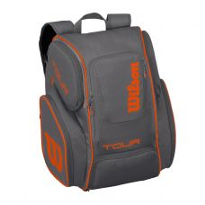 MOCHILA WILSON TOUR V BACKPACK LARGE GRIS NARANJA