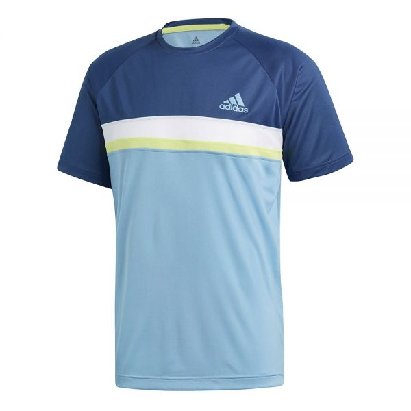 26aed8d086448 CAMISETA ADIDAS CLUB COLORBLOCK AZUL ...