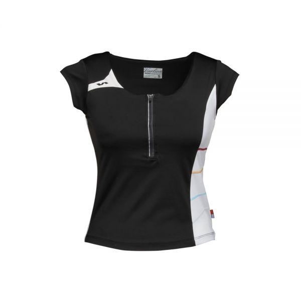 Mujer Varlion Negro Para Md13w01 Camiseta Con Tejido Elástico 86wqdIxnWx
