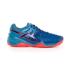 ASICS GEL RESOLUTION 7 CLAY AZUL NARANJA E702Y 400