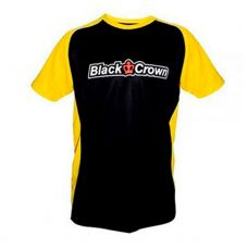 CAMISETA BLACK CROWN STOP NEGRO AMARILLO