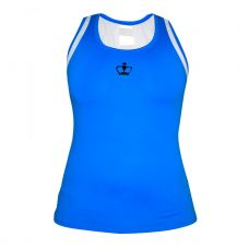 CAMISETA BLACK CROWN DURRES AZUL ROYAL BLANCO MUJER