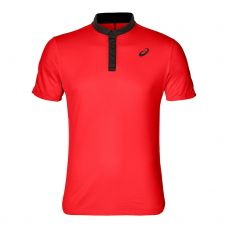 POLO ASICS CLUB ROJO NEGRO