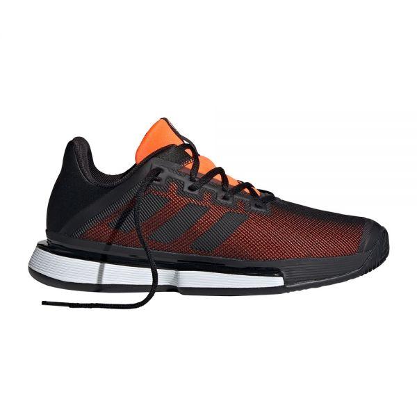 adidas-solematch-bounce-clay-negro-naranja-ef4442, 107.95 EUR @ newpadel-es