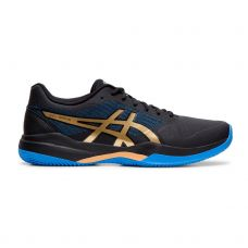 ASICS GEL GAME 7 CLAY OC NEGRO DORADO AZUL 1041A046-012