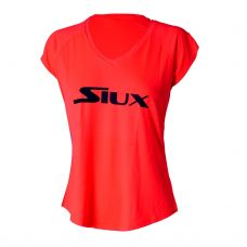 CAMISETA SIUX SPECIAL MUJER CORAL LOGO NEGRO
