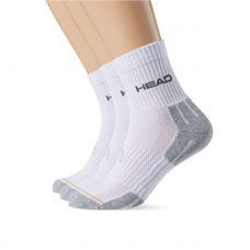 CALCETINES HEAD TENNIS 3P PERFORMANCE BLANCO GRIS