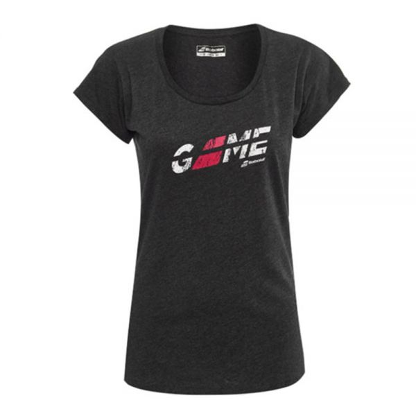 CAMISETA BABOLAT EXERCISE FLAG MESSAGE NEGRO MUJER