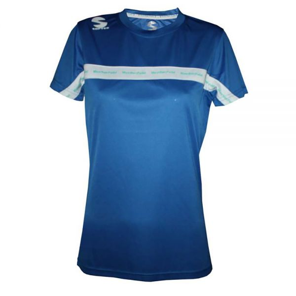 4a5a77dec35 Camiseta Padel Softee Club Royal Blanco Mujer - Excelentes materiales