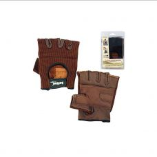 PAR DE GUANTES FITNESS SOFTEE MARRON 35106.016.2