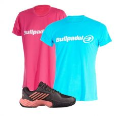 PACK KSWISS AERO COURT Y CAMISETAS BULLPADEL