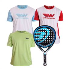PACK BULLPADEL BLACK DRAGON Y CAMISETAS WINGPADEL