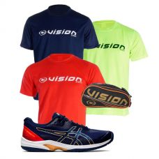 PACK ASICS GEL COURT SPEED FF Y 3 CAMISETAS VISION