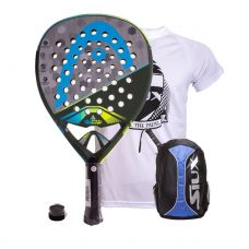 PACK HEAD GRAPHENE TOUCH ALPHA ELITE Y MOCHILA SIUX AZUL