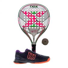PACK NOX STINGER 2.1 JR NIÑA Y ZAPATILLAS WILSON ASTRAL
