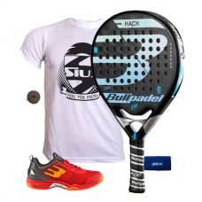 PACK BULLPADEL HACK CONTROL Y ZAPATILLAS BULLPADEL BEWER