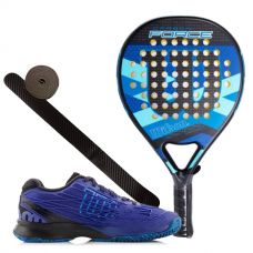 PACK WILSON CARBON FORCE AZUL Y ZAPATILLAS WILSON KAOS