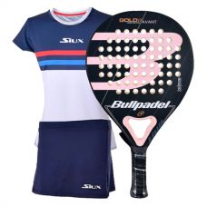 PACK BULLPADEL GOLD 3.0 WOMAN Y EQUIPACION SIUX LUXURY