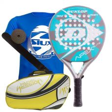 PACK DUNLOP APEX ELITE Y PALETERO PADEL SESSION PREMIUM