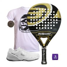 PACK BULLPADEL GOLD EDITION Y ZAPATILLAS WILSON