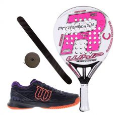 PACK ROYAL PADEL RP 790 WHIP MUJER 2016 Y  ZAPATILLAS WILSON ASTRAL