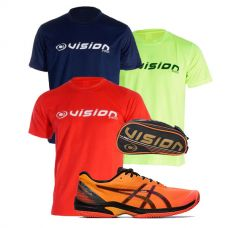 PACK ASICS COURT SPEED FF CLAY Y 3 CAMISETAS VISION