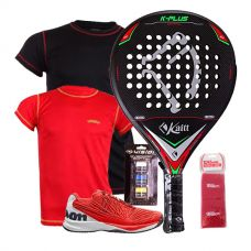 PACK KAITT K PLUS CONTROL, ZAPATILLAS WILSON KAOS Y CAMISETAS PADEL SESSION