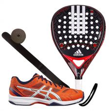 PACK ADIDAS CARBON ATTK 1.7 Y ASICS GEL PADEL EXCLUSIVE 4SG