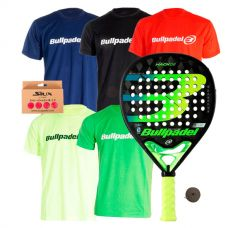 PACK BULLPADEL HACK 02 Y 5 CAMISETAS BULLPADEL