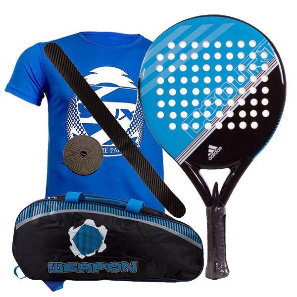 federación Sangriento champán  Pack Adidas Fast Court Azul y paletero Softee - Packs baratos adidas
