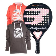 PACK BULLPADEL GOLD 3.0 WOMAN Y SUDADERAS SIUX BELICE