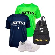 PACK SOFTEE PADEL WINNER 1.0 BLANCO Y BANDOLERA SIUX