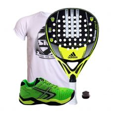 PACK ADIDAS ADIPOWER ATTK 1.8 Y SOFTEE WINNER 1.0 VERDE