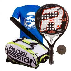 PACK ROYAL PADEL ANIVERSARIO M27 Y PALETERO PADEL SESSION MATRIX 3