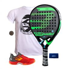 PACK BULLPADEL VERTEX CONTROL Y ZAPATILLAS BULLPADEL BEWER