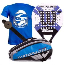 PACK WILSON CARBON FORCE LITE PADDLE RKT Y PALETERO WINGPADEL
