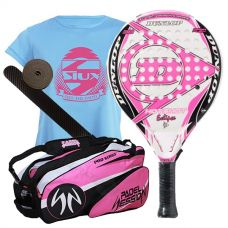 PACK DUNLOP HOT SHOT ECLYPSE Y PALETERO  PADEL SESSION PRO SERIES