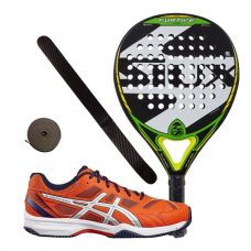 PACK SIUX FURTIVE PRO Y ZAPATILLAS ASICS GEL PADEL EXCLUSIVE 4SG