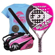 PACK DUNLOP BLAZE ECLIPSE Y PALETERO PADEL SESSION