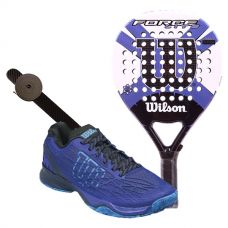 PACK WILSON FORCE LITE PADDLE RKT Y ZAPATILLAS WILSON KAOS