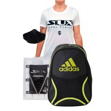 PACK MOCHILA ADIDAS BACKPACK CLUB LIMA Y CAMISETA SIUX ECLIPSE MUJER BLANCO