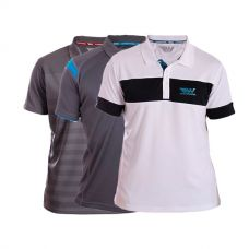 PACK 3 POLOS WINGPADEL, POLO MIPER GRIS Y AZUL, POLO W-LOT GRIS Y POLO W-THEO BLANCO NEGRO