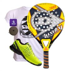 PACK DUNLOP LUXURY Y ZAPATILLAS WILSON KAOS SAFETY AMARILLO
