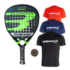 PACK BULLPADEL VERTEX X-LINE Y 3 CAMISETAS BULLPADEL